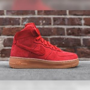 Nike Shoes | Nike Red Suede High Top